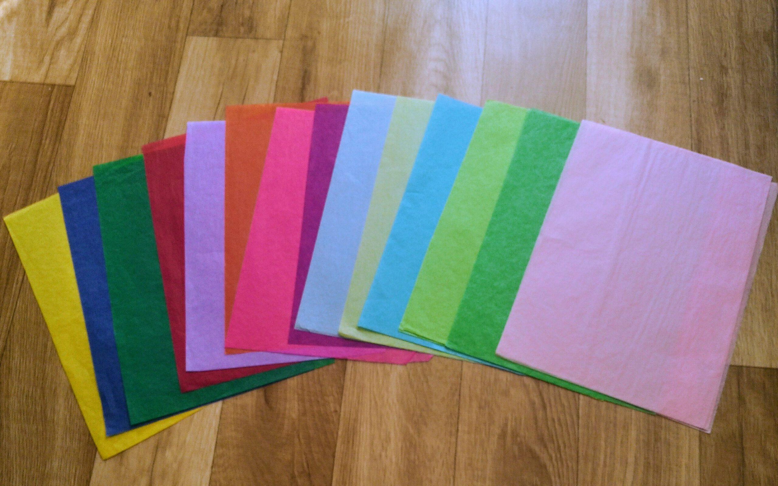 bibuła kolory różne