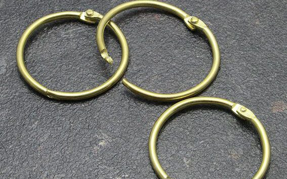 Gold metal ring binders